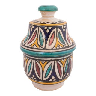 Moroccan Pottery Jar For Sale