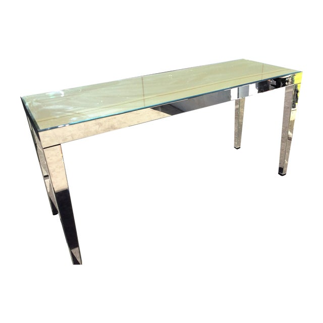 Large Beveled Mirror Hall Table - Image 1 of 7
