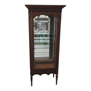 Vintage French Style Lighted Display Cupboard