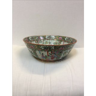 Antique Chinese Rose Medallion Bowl Preview