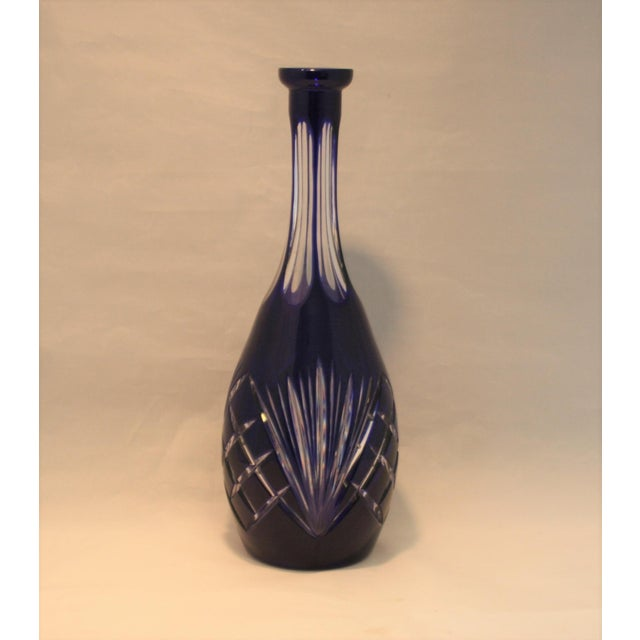 This is an exquisite Bohemian Czech cut to clear crystal art glass carafe. It is from the original Tavern on the Green...
