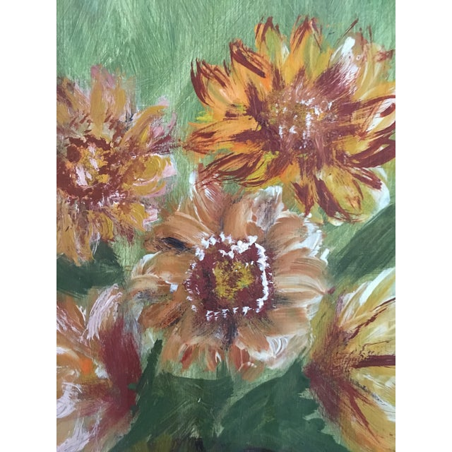 Vintage Floral Still Life Painting on Board For Sale In Washington DC - Image 6 of 8