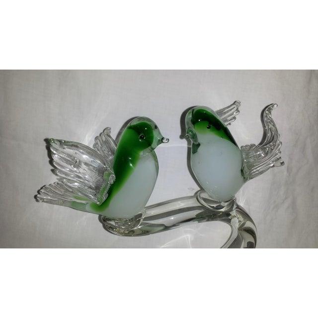 Large Mid Century Art Glass Birds Sculpture - Image 3 of 5