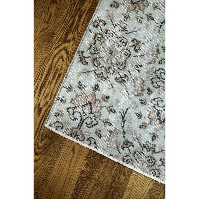 Turkish Over-Dyed Mint Wool Rug - 3′ x 2′ - Image 4 of 5