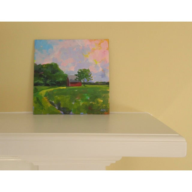 French Country Red House in Vermont by Anne Carrozza Remick For Sale - Image 3 of 6