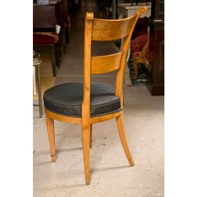 Set Six Biedermeier Style Side Chairs Dining Chairs With Ebony Inlay Can Buy One - Image 8 of 9