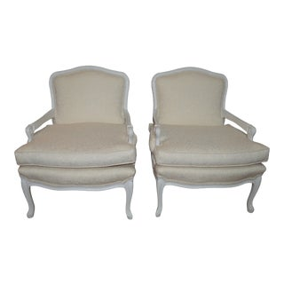 Vintage 1960s Bergere Chairs- A Pair For Sale