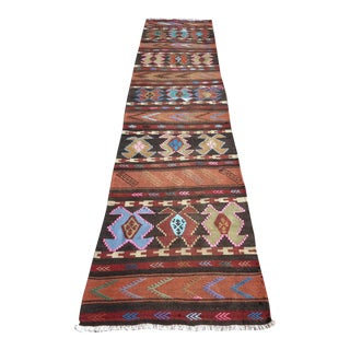 "Vintage Turkish Kilim Runner-2'6'x10"" For Sale"