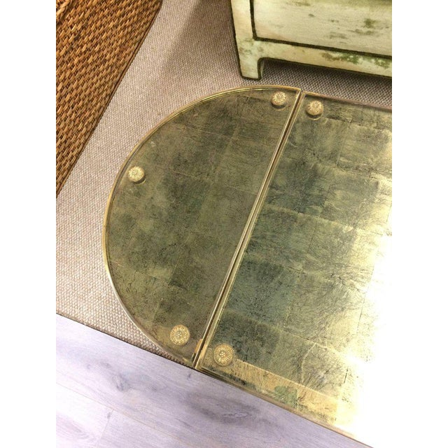 1980s Vintage Oblong Gilded Coffee Table For Sale - Image 5 of 9
