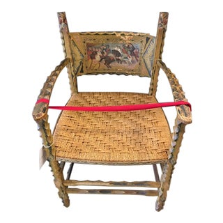 Antique Italian Carved Wood Chair 19th Century For Sale