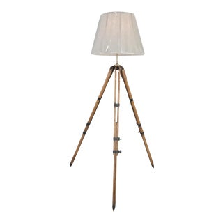 Antique French Surveyors Floor Lamp For Sale
