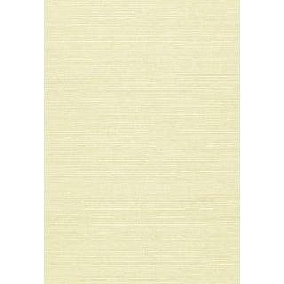 Sample - Schumacher Haruki Sisal Wallpaper in Ivory For Sale
