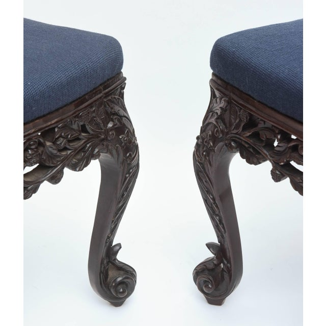 Superb Set of Four 19th Century Anglo-Indian Side Chairs For Sale - Image 9 of 11