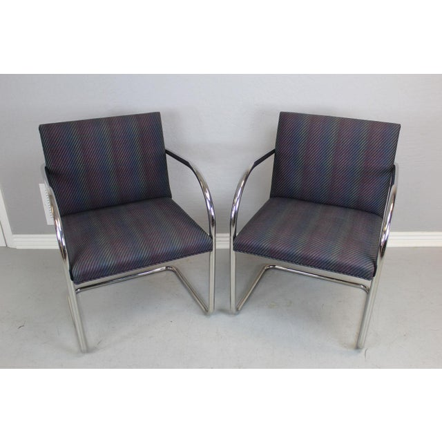 Modern Ludwig Van Der Rohe BRNO Chairs - A Pair For Sale - Image 3 of 7