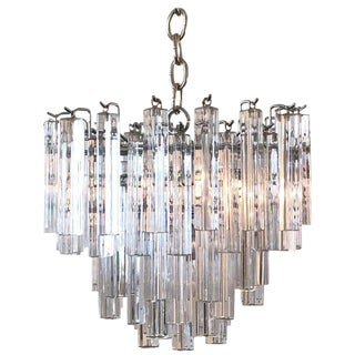Italian Murano Glass Chandelier by Venini For Sale
