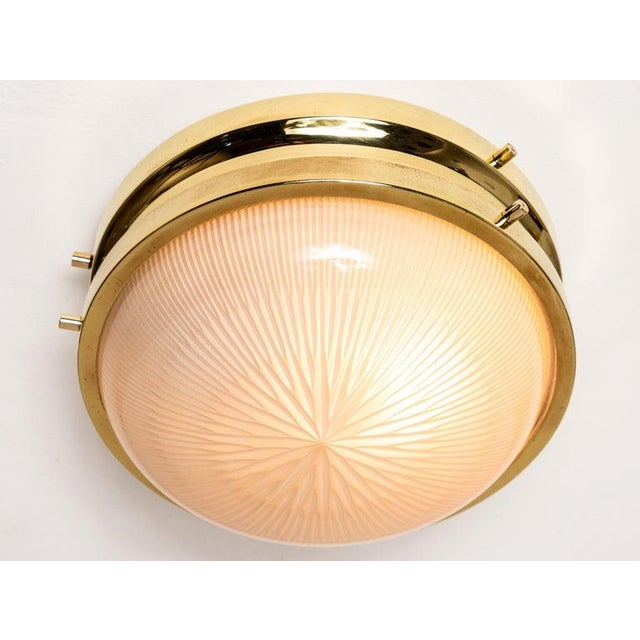 Brass 1960s Sergio Mazza Brass 'Sigma' Wall or Ceiling Light for Artemide For Sale - Image 8 of 13