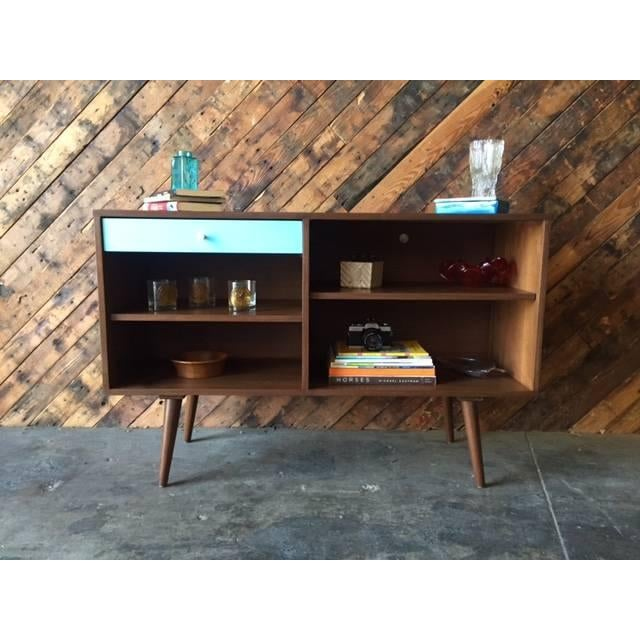 Modern Custom Blue Drawer Credenza For Sale - Image 3 of 5