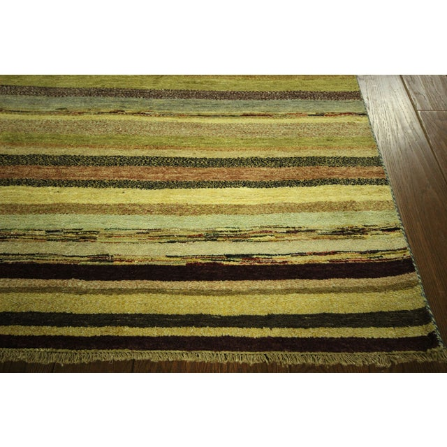 "Oushak Collection Striped Gabbeh Rug - 5'7"" x 8'1"" - Image 7 of 10"