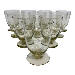 Petite Aperitif Pedestal Glasses S/10 For Sale