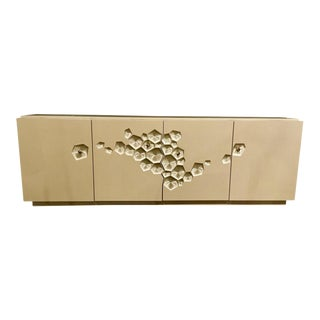 Modern Caracole Beige Crowd Pleaser Console Table For Sale