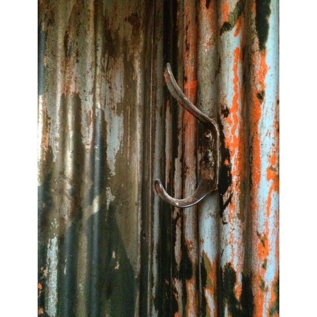 1930's French Vintage Industrial 4 Door Locker - Image 10 of 11