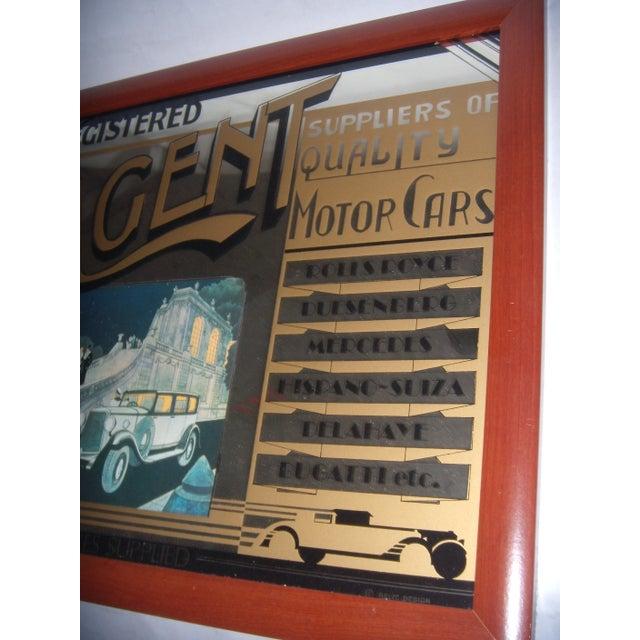 English Pub Mirror Advertising Motor Cars - Image 4 of 5