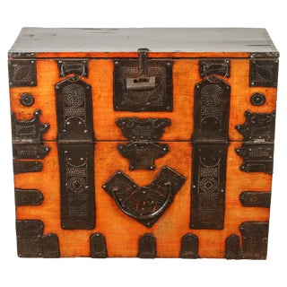 Korean Laquer Chest For Sale