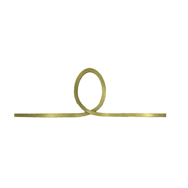 Contemporary Looped Knob - Satin Brass For Sale - Image 3 of 4