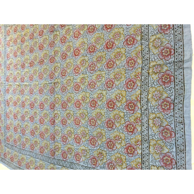 Anglo-Indian Kalamari Blue Textile From India For Sale - Image 3 of 9