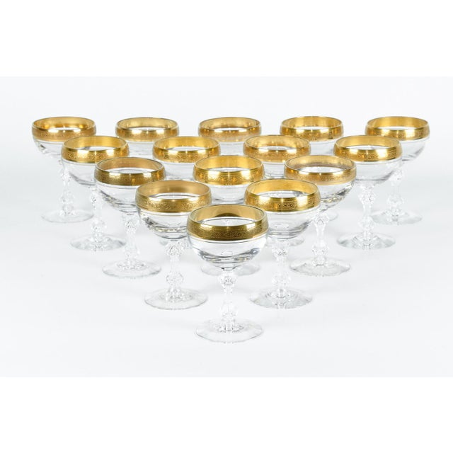 Vintage Set 15 Champagne Coupes For Sale In New York - Image 6 of 6
