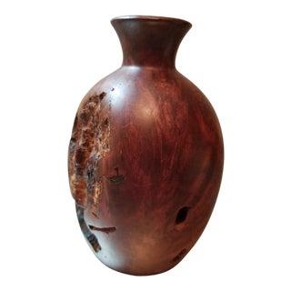 Burl Wood Bud Vase For Sale