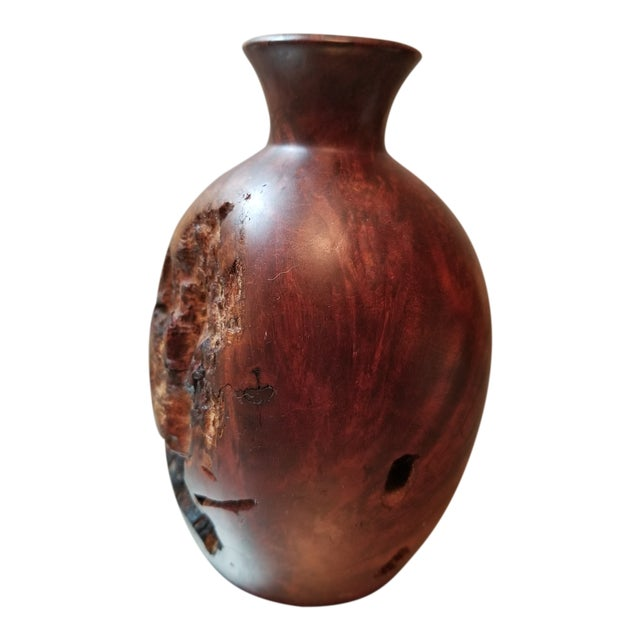Burl Wood Bud Vase For Sale