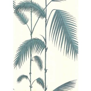 Cole & Son Palm Leaves Wallpaper Roll - White/G For Sale