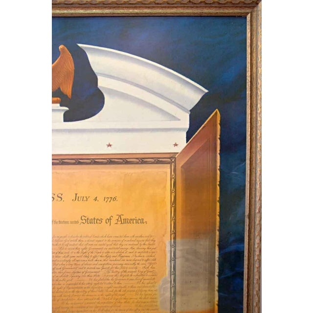 Commemorative Declaration of Independence Lithograph - Image 4 of 10