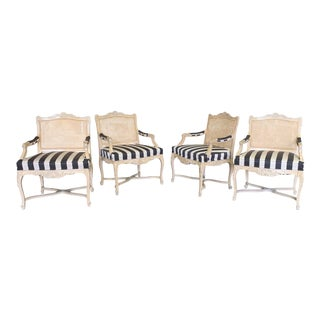 Vintage Louis XVI Dining Chairs, Set of 4 For Sale