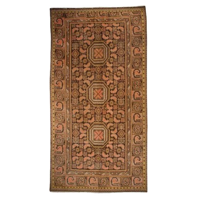 "19th Century Central Asian Khotan Carpet - 5'3"" x 10' For Sale"