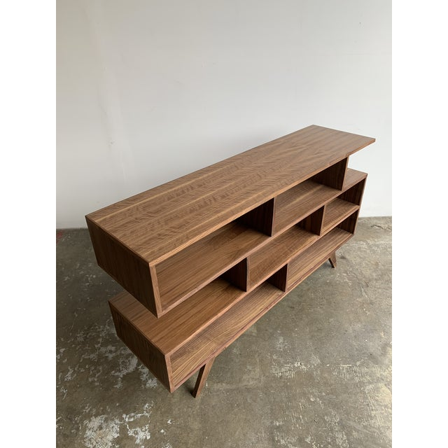Wood Walnut Modern Book Case For Sale - Image 7 of 13