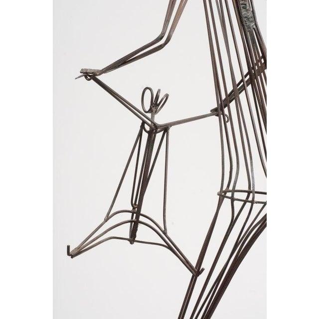 Kinetic Wrought Iron Sculpture by Robert Kuntz - Image 4 of 5