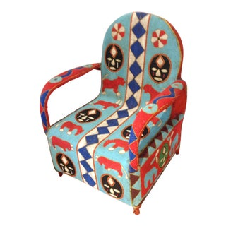 Vintage African Beaded Chair by Yoruba Artisans For Sale