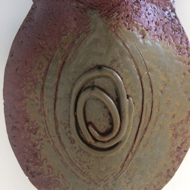 Red Mid-Century California Ceramic Vase by Read For Sale - Image 8 of 10