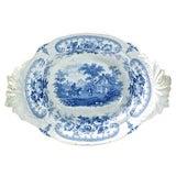 Image of Antique Medieval Joust Scene Dish For Sale