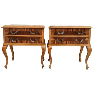 20th Century Pair of French Art Noveau Nighstands With Two Drawers For Sale