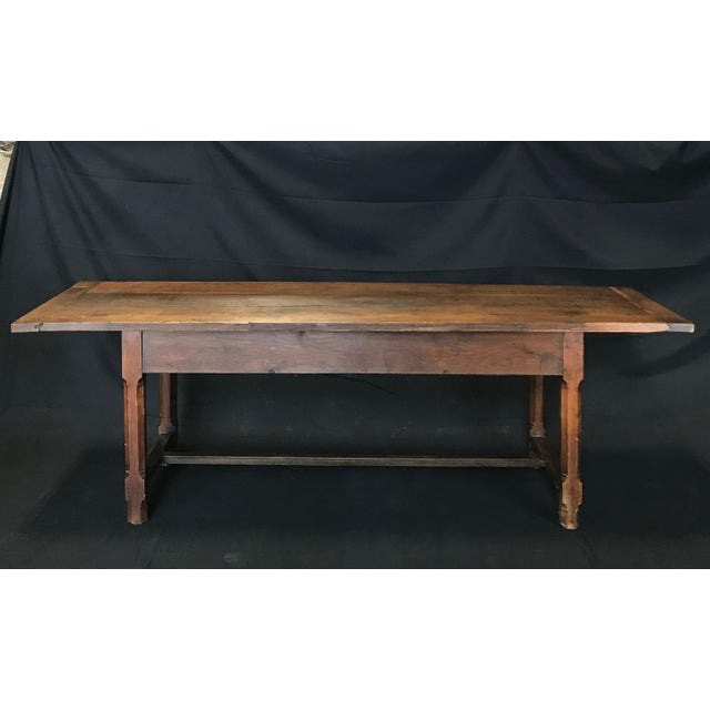 Early 19th Century Oak Farm Table With Sliding Drawers For Sale - Image 9 of 13
