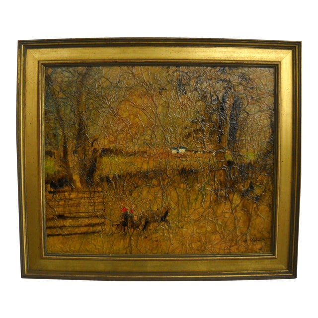Country Lane Trotter Mixed-Media For Sale