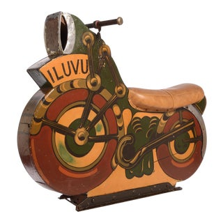 Antique Motorcycle Ride for a Carnival Carousel and Merry-Go-Round For Sale