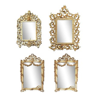 French Metal Picture Frames - Set of 4 For Sale
