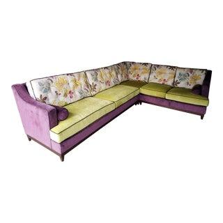 1960s Vintage Kravet Goose Down Sectional Sofa For Sale