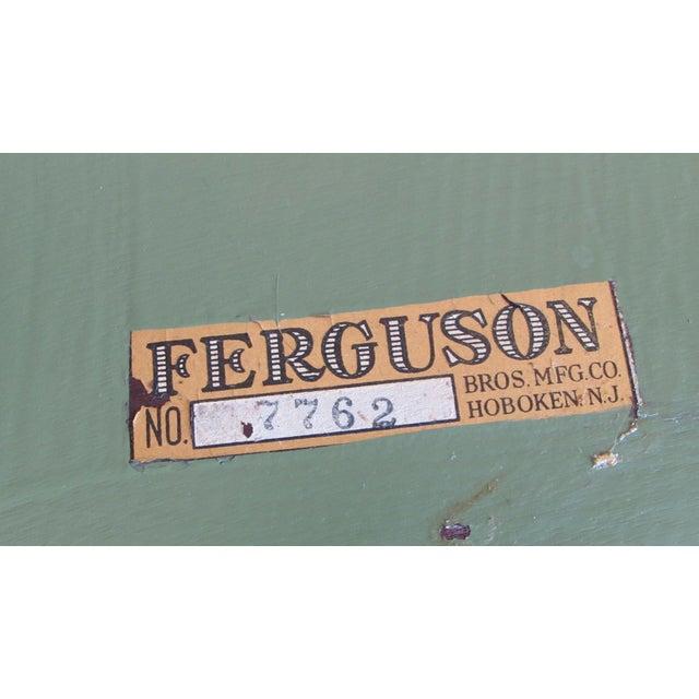 Vintage Green Ferguson Brothers Magazine Rack - Image 5 of 8