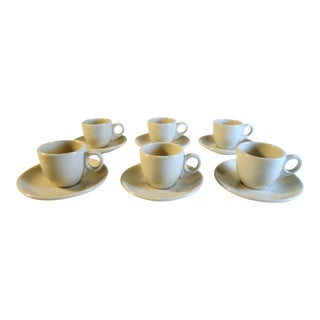 Vintage Hlc Demitasse Cups & Saucers- Set of 6 For Sale