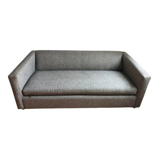 Cb2 Modern Gray Upholstered Sleeper Couch For Sale